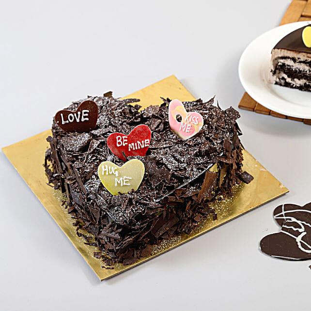 Choco Blast Love Cake: Heart Shaped Cakes Faridabad