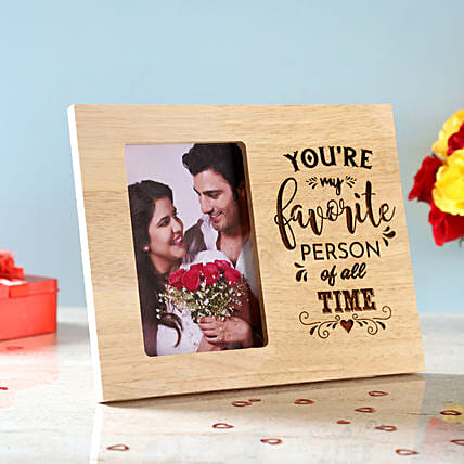 Favourite Person Engraved Wooden Frame: Gifts for Wedding Anniversary