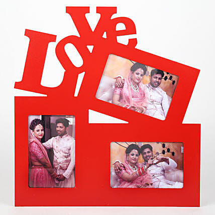 Red Love Photo Frame: Personalised Photo Frames Gifts