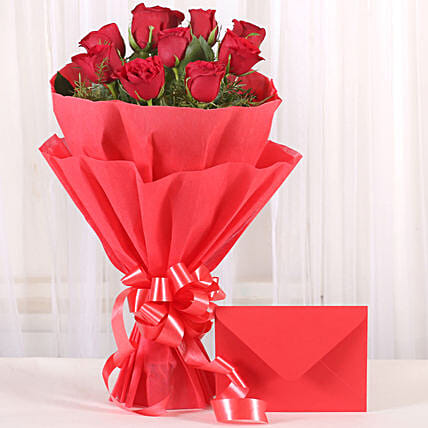 Bouquet N Greeting Card: Send Flowers to Sonipat