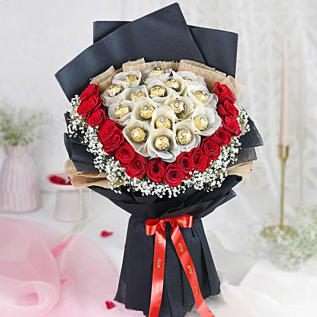 Premium Rocher Bouquet: Valentine Gifts for Boyfriend