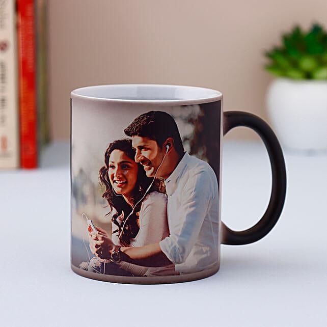 Personalised Black Magical Mug: Custom Photo Coffee Mugs