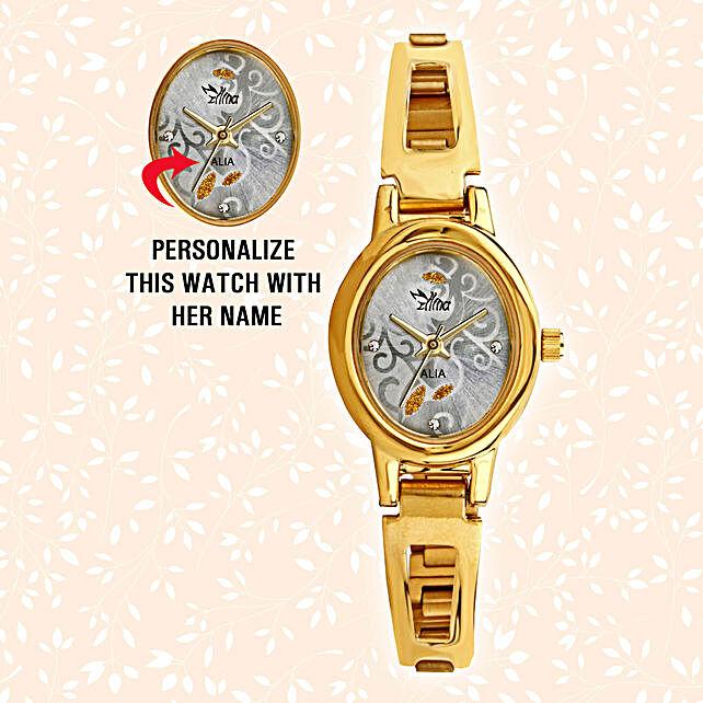 Personalised Sleek Oval Watch: