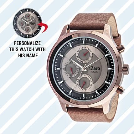 Personalised Black Watch For Him: Anniversary Personalised Gifts
