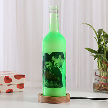 Shining Memory Personalized Lamp: Bottle Lamps