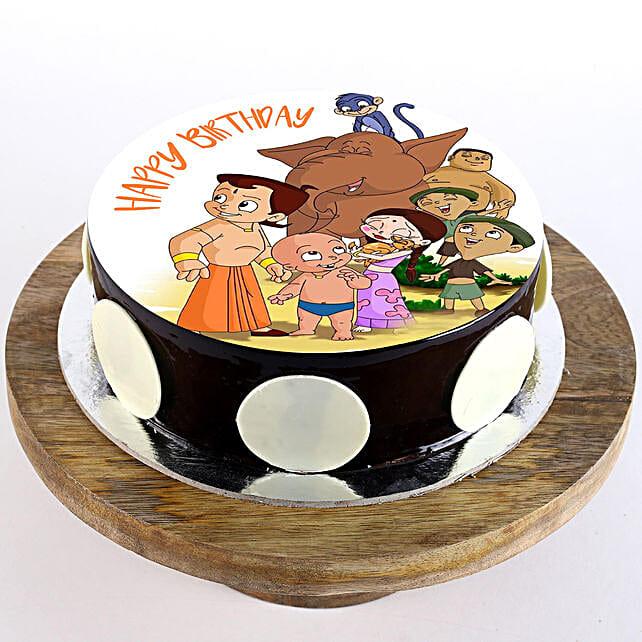 Chhota Bheem Special Chocolate Photo Cake: