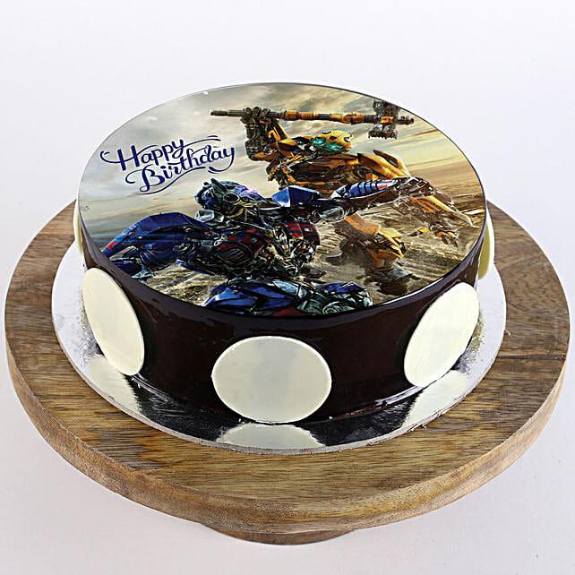 Transformers Chocolate Photo Cake: Super Hero Themed Cakes