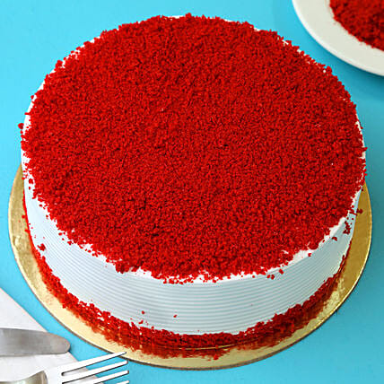 Red Velvet Fresh Cream Cake: Gifts To Partapur - Meerut