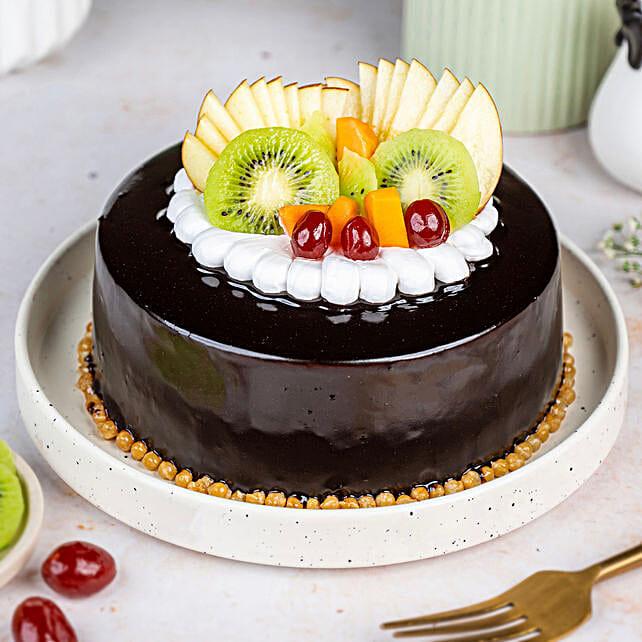 Fruit Chocolate Cake: Gifts to Kannur