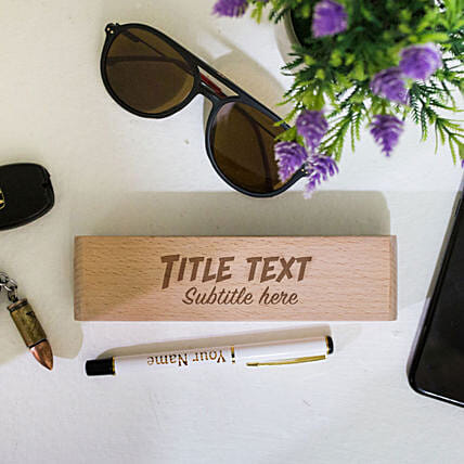 Engraved Pen In Personalised Wooden Box: