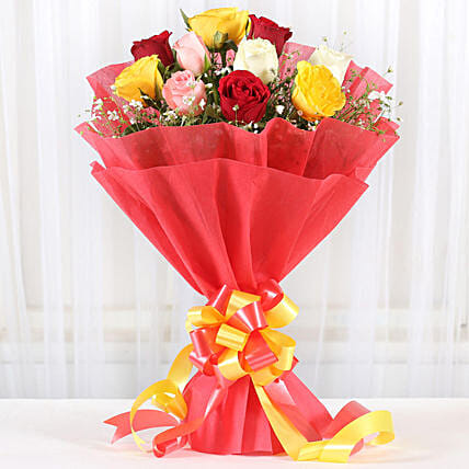 Mixed Roses Romantic Bunch: Flowers for Her