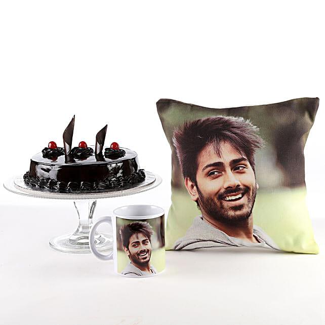 Photo Cushion, Mug & Cake Combo For Him/Her: Coffee Mugs