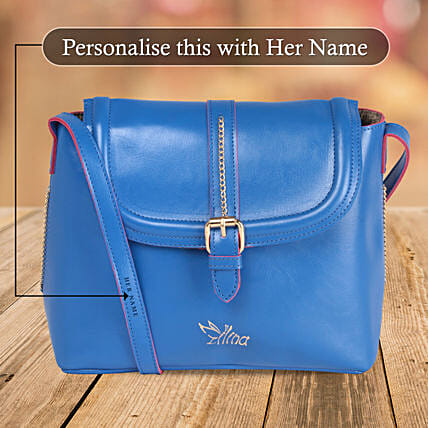 Trendy Blue Sling Bag:
