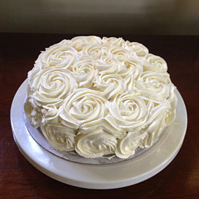 White Rose Cake: Send Designer Cakes