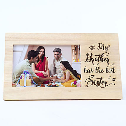 Personalised Best Sister Wooden Frame: Bhai Dooj Personalised Gifts