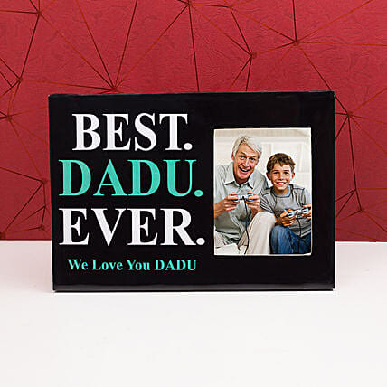 Personalised Best Dadu Photo Frame: Personalised Photo Frames Gifts