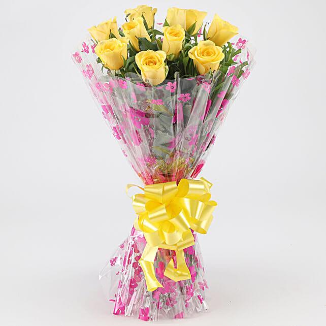 Joyful Yellow Roses: