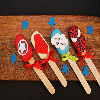 Avengers Special Happy Birthday Cakesicles: