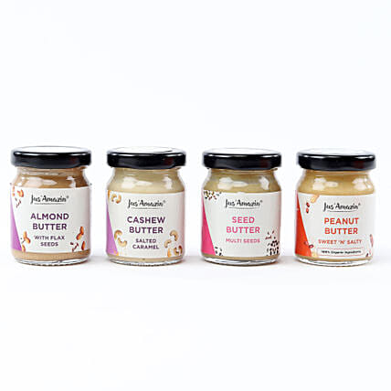Nutritious Nut & Seed Butter Jar Combo: Gourmet Gifts India