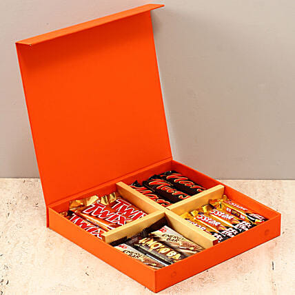 Orange FNP Box Of Chocolates: Gifts for Hug Day