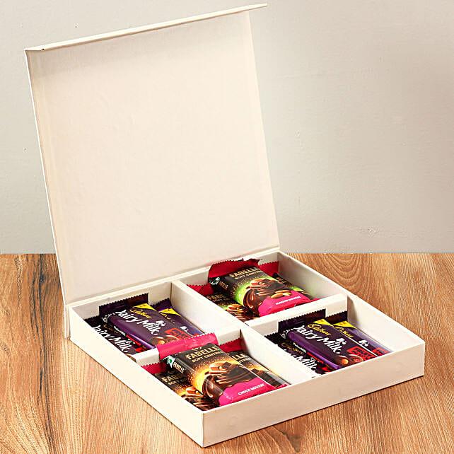 White FNP Box Of Chocolates: Chocolates Shopping India