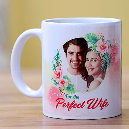 Perfect Wife Personalised Mug: Custom Photo Coffee Mugs