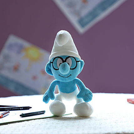 Smurf Smurf With Glass 20 Cm: Toys and Games