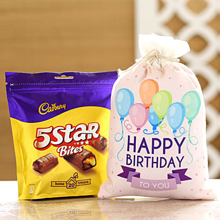 Cadbury 5 Star Pack & Birthday Gunny Bag: