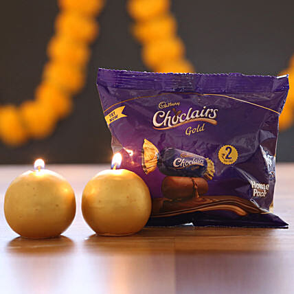 Chocolairs Gold & Candles: Cadbury Chocolates