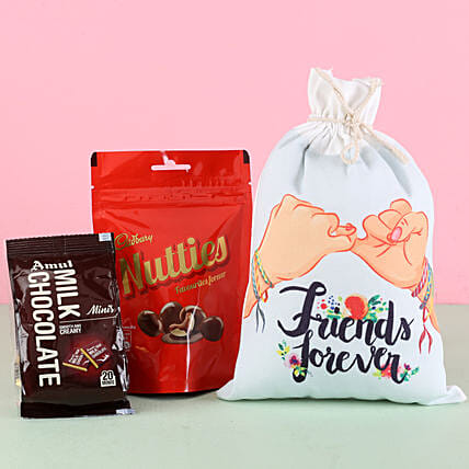 Friends Gunny Bag & Chocolates: Chocolate Gifts in India