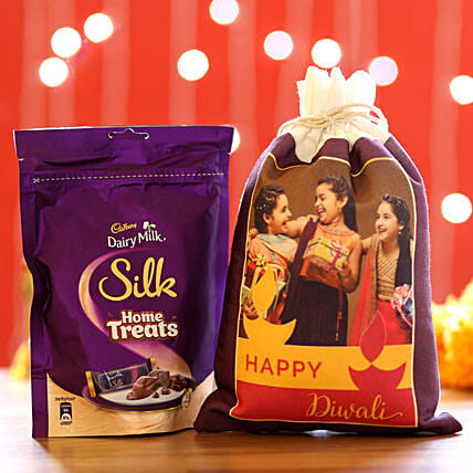 Silk Home Treats & Personalised Gunny Bags: Cadbury Chocolates