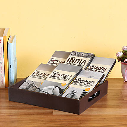 Amul Chocolates Wooden Tray: