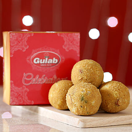 Besan Dry Fruit Laddu Box: Sweets Delivery