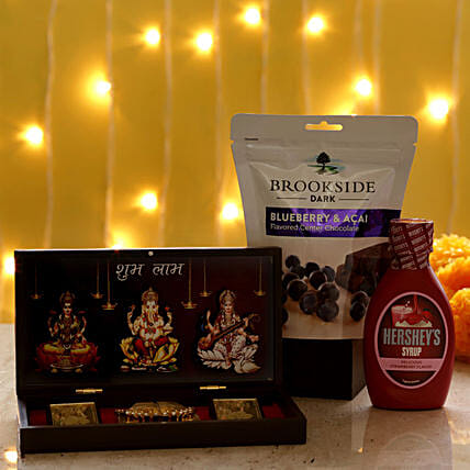 Diwali Pooja Box & Delicious Treats: Gift Combos