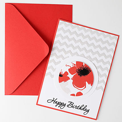 Floral Effect Greeting Card: Gifts for 1st Birthday