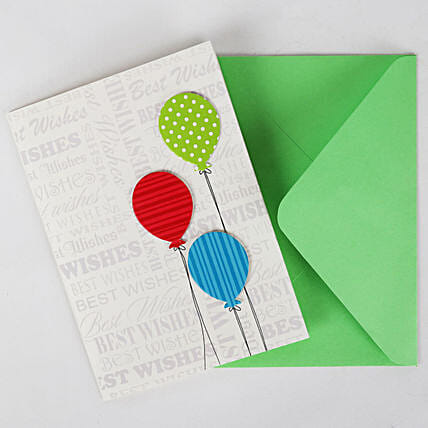 Happy Birthday Balloon Greeting Card: Girlfriends Day Gifts