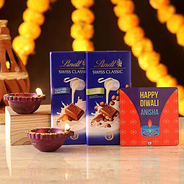 Personalised Sweet Diwali Wishes: Diyas