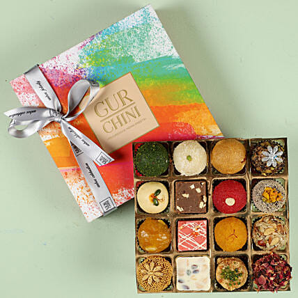 Tempting Exotic Mithai In Multicolored Box- 16 Pcs: Buy Sweets