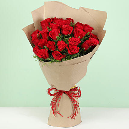 Beautiful 30 Red Roses Bouquet: Gifts to Shimoga