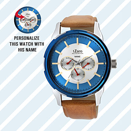 Personalised Stylish Brown Watch For Him: