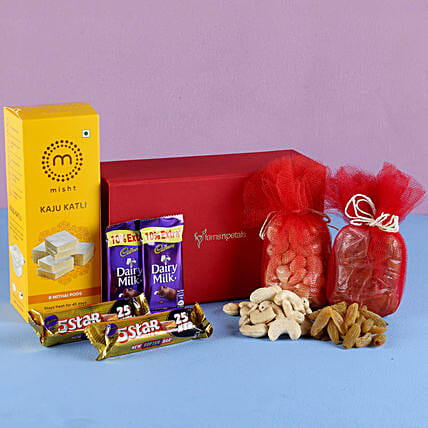 Kaju Burfi Festive Hamper: Send Bhai Dooj Gift Hampers