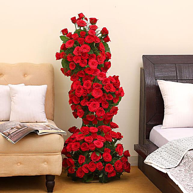 Premium 100 Red Roses Arrangement: Premium Roses