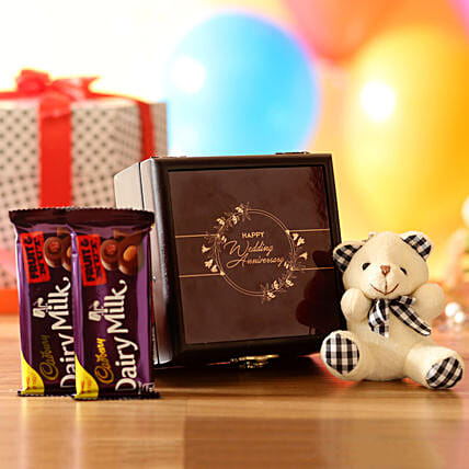 Anniversary Wishes Box: Cadbury Chocolates
