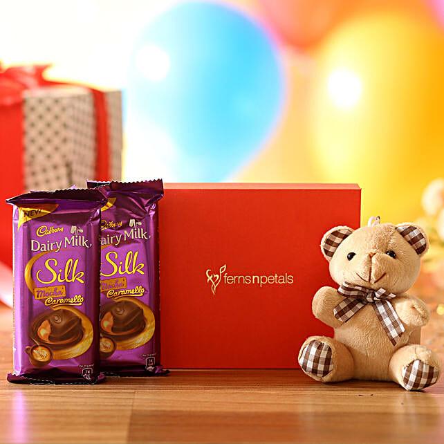 Cuddly Bear & Mocha Caramello Chocolate: