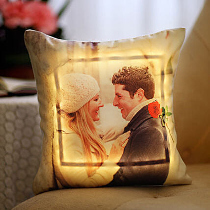 Valentine's Day Special Personalised LED Cushion: Gifts for Hug Day