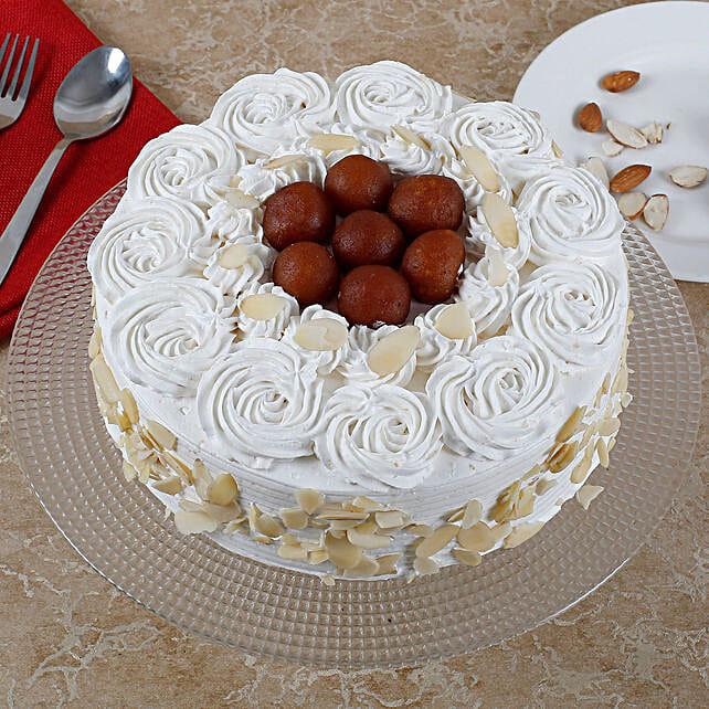 Vanilla Fusion Gulab Jamun Cake: Buy Sweets