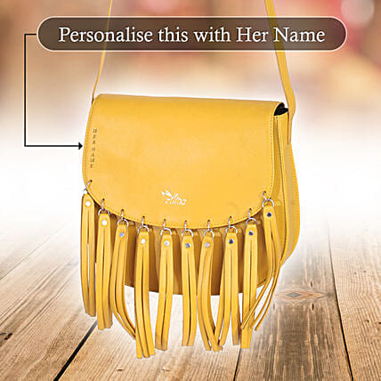 Voguish Yellow Sling Bag: