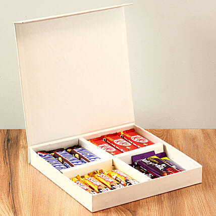 White Gift Box Of Chocolates: Gifts to India
