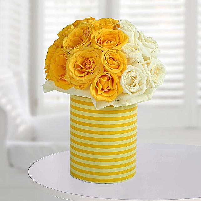 White N Bright Floral Arrangement: Send Roses