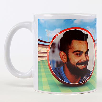 Wonderful Personalised White Mug: Cricket World Cup Gifts